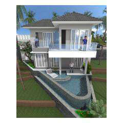 Balcony Pool - Bali Villa Projects - Own a Holiday Home in Bali - Palm Living Bali